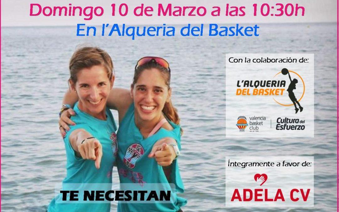 Quedada Solidaria Juntas Es Mejor a favor de ADELA en l'Alqueria del Basket
