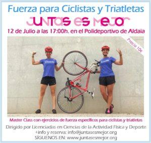Máster Class Entrenamiento de fuerza para ciclistas y triatletas @ Polideportivo de Aldaia