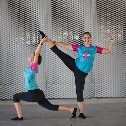 Paula y Patri entrenando